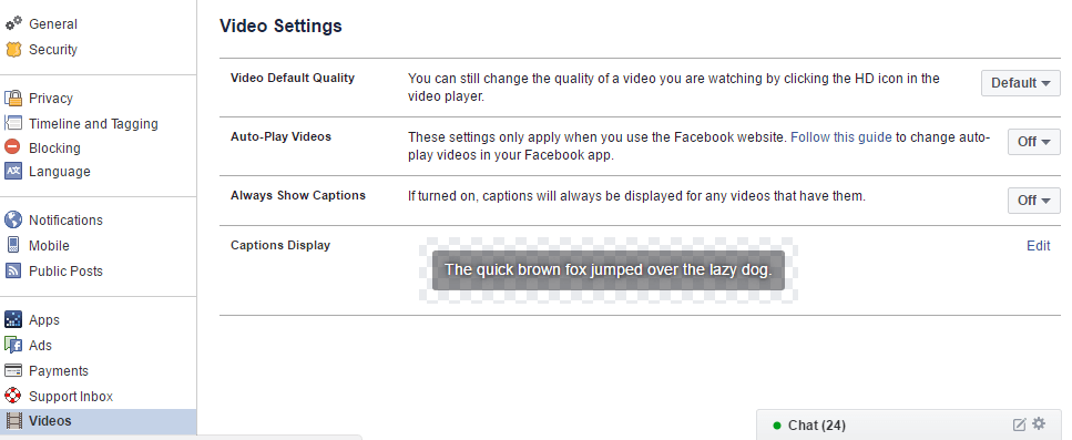 Turn Off Auto Play Videos in Facebook