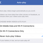 Disable Auto Play Videos in Facebook News Feed