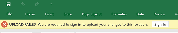 Upload Failed Sign In Required