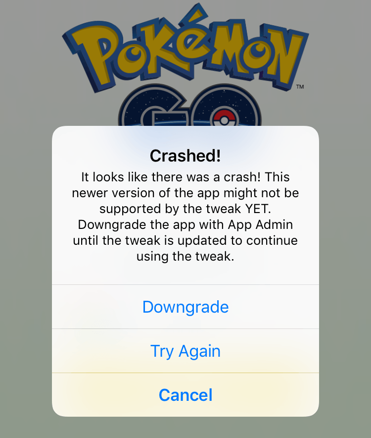 PokeGo++ 2.0 Crashed