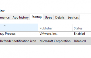 Disable Windows Defender Notification Icon in Taskbar Tray