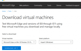 Download Free Windows Virtual Machine Image
