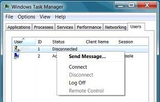 Log Off Another User in Windows