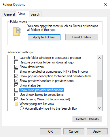 Sync Provider Notications Settings in Windows 10