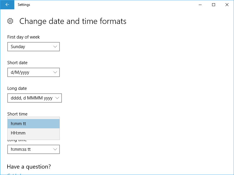 No Seconds in Time Format