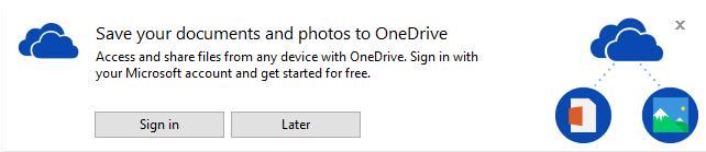 File Explorer Promotes OneDrive