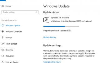 Windows 10 Creators Update v.1703 Build 15063