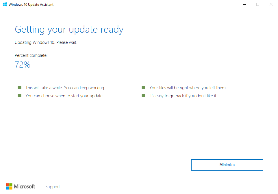 how to stop windows 10 update assistant from installing