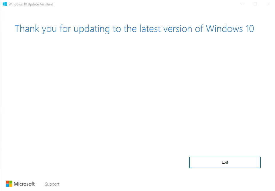 Windows 10 at Latest Version