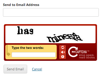 reCaptcha for Email Sharing Button