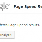 Unable to Fetch Page Speed Results in W3 Total Cache
