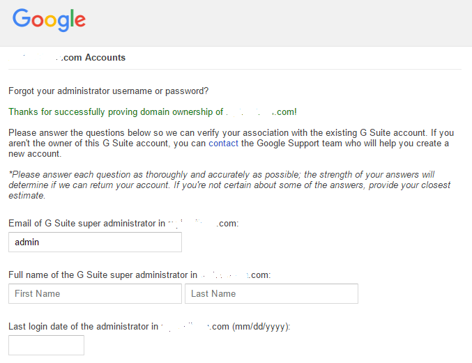 Reset Password of Google Suite via Domain Verification