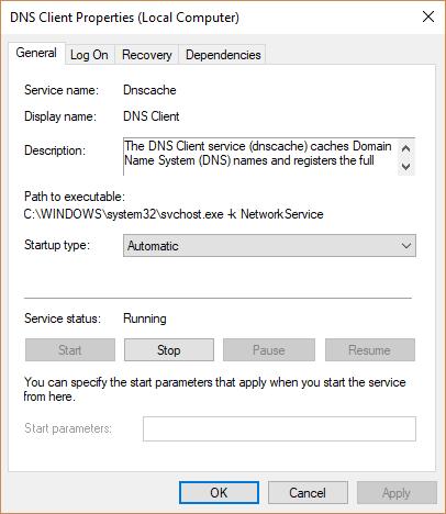 Start DNS Client