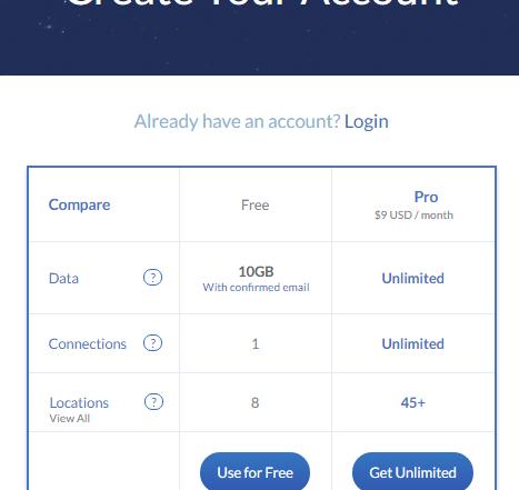 Create Free WindSribe Account