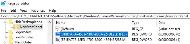 Show or Hide OneDrive Desktop Icon