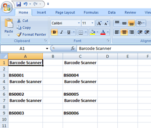 how to create barcode in excel