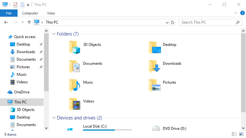 3D Objects Folder