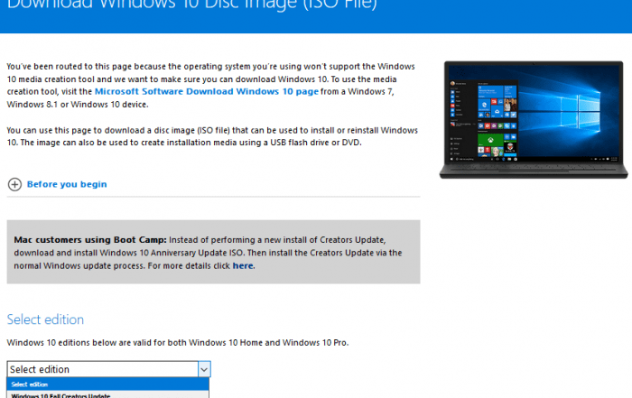 Download Windows 10 ISO Files