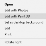 How to Remove Edit with Paint 3D in Right Click Context Menu of Windows 10