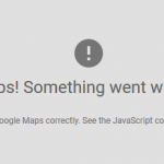 Google Maps API Referrer Not Allowed Error