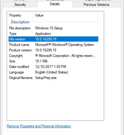 Windows 10 10.0.16299.15 Media Creation Tool