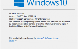 Windows 10 CU Build 16299.19