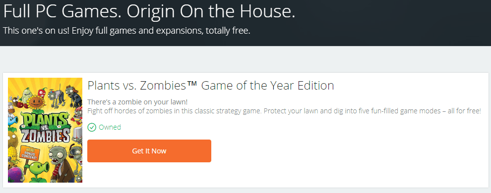 Free Plants vs. Zombies™ Game of the Year Edition Game