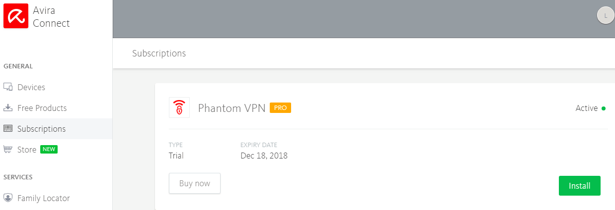 Free Avira Phantom Pro VPN Annual Plan