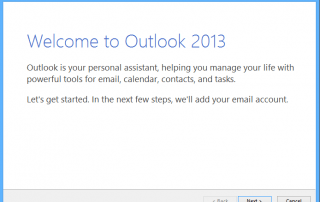 Reset to Outlook First Run Status
