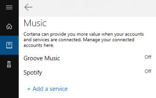 Connect Cortana to Spotify