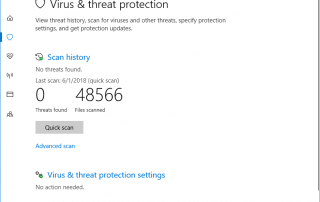 Windows Defender Security Scan