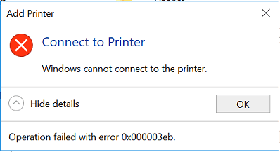 Cannot Add and Connect to Printer