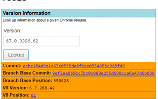 Chromium Version Information