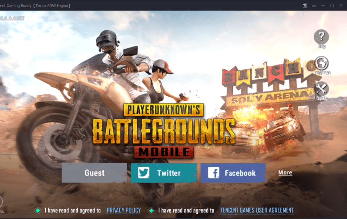 PUBG Mobile in Tencent Gaming Buddy