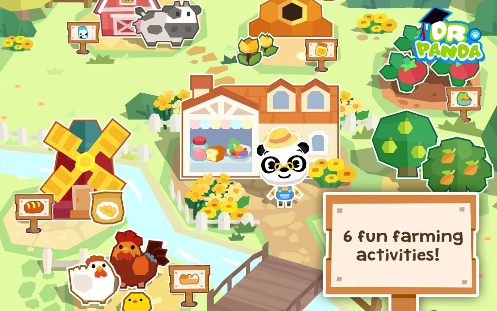 Dr  Panda Farm Educational App Free Download (iOS & Android