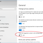 How to Enable or Disable Suggested Content Ads in Settings of Windows 10
