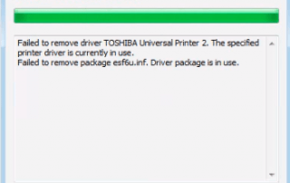 Failed to Remove Printer Driver