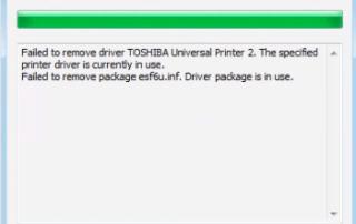 Failed to Remove Printer Driver