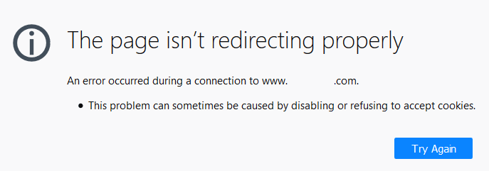 The page isn't redirecting properly.