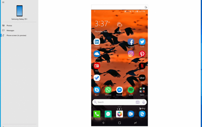 Windows 10 Phone Screen Mirror