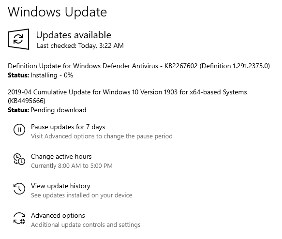 Windows 10 v.1903 Build 18362.53
