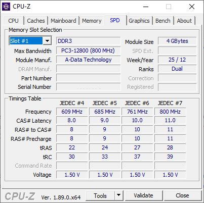 CPU-Z Memory Slots