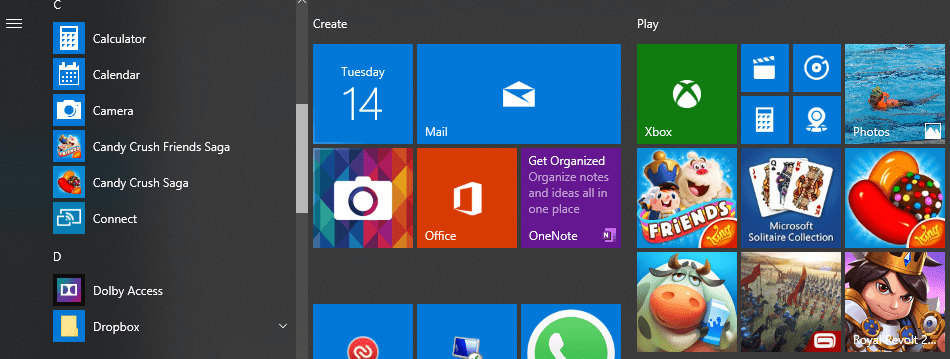 Prominent Suggested Apps in Windows 10