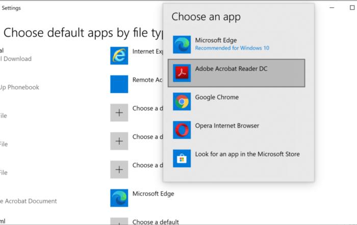 Change Default PDF Viewer in Windows 10