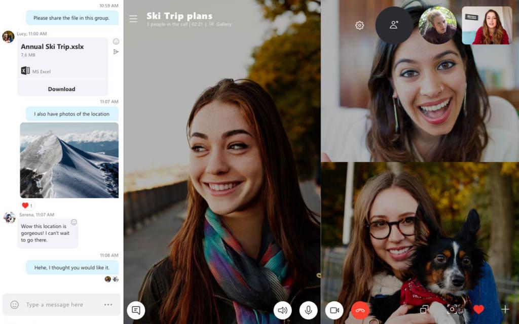 Skype Video Meeting Teleconferencing
