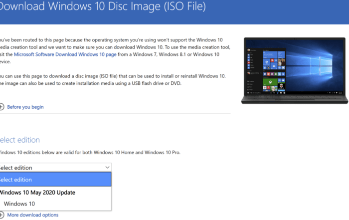 Download Windows 10 May 2020 Update ISO