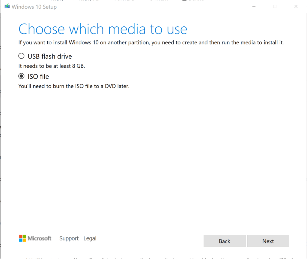 Media Creation Tool for Windows 10 2004