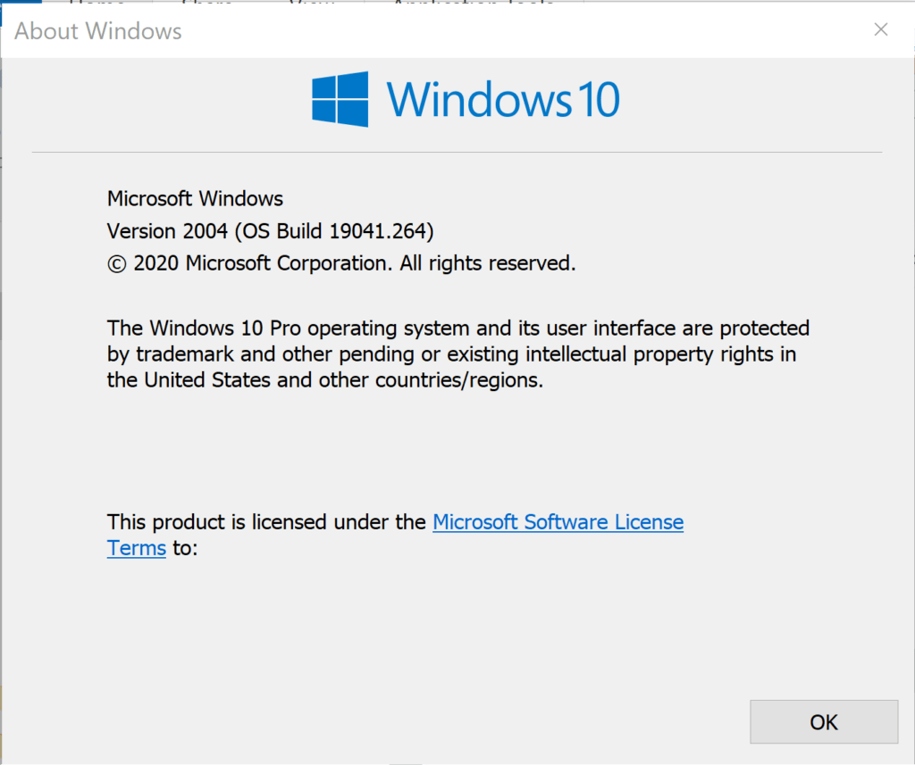 Windows 10 May 2020 Update Version 2004 Build 19041